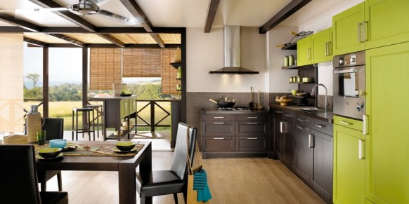 luxury kitchen in green ideas
