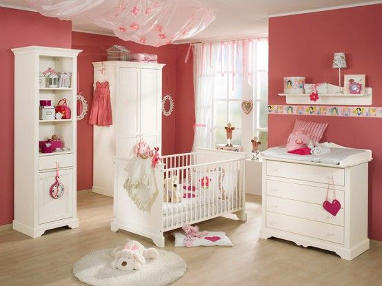 luxury pink and wood baby nursery furniture sets