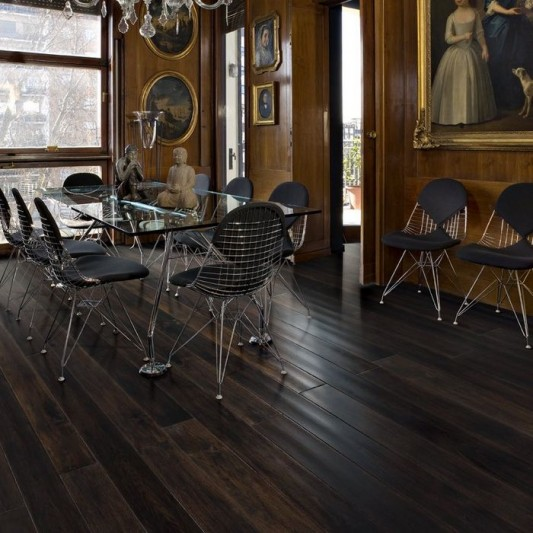 magestic avenue walnut award winning wooden flooring and glueless joint Woodloc