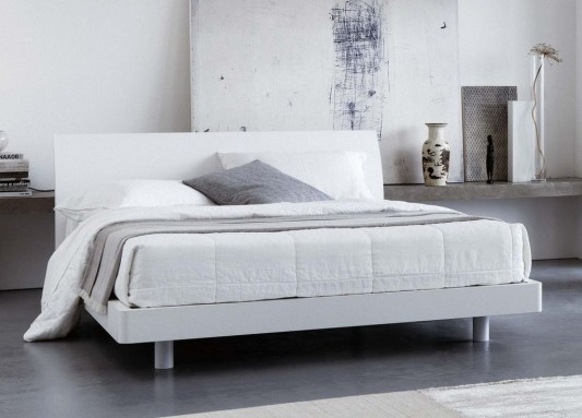 matching white high quality Italian bed Furniture design
