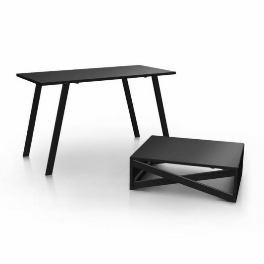 metal trans furniture coffee table and dining table by Duffy London