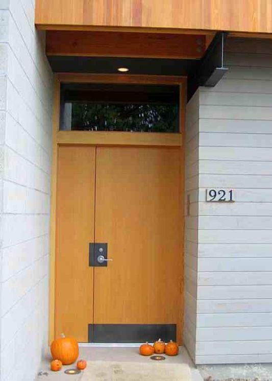 minimalis wooden door design
