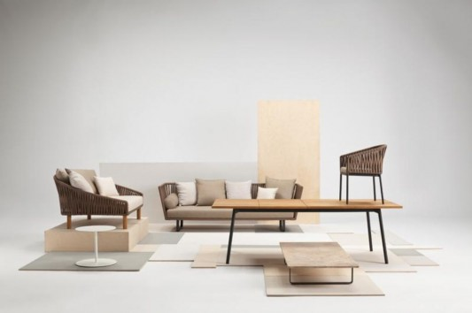 minimalist cozy living room decoration with kettal bitta furniture collection