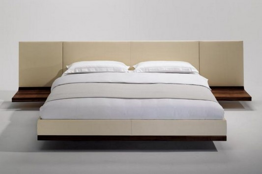 minimalist design solid walnut bed by team 7