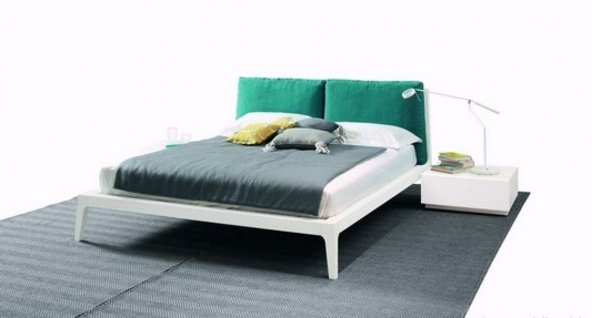 minimalist double bed design with traditional style