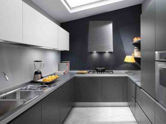 Minimalist Gray Kitchen Design By Ernestomeda