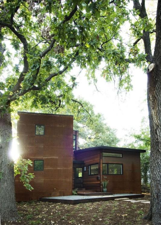 minimalist wooden house concept