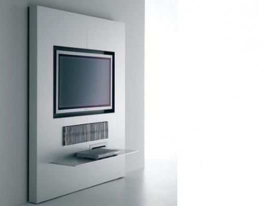 modern Plasma TV stand wall unit design