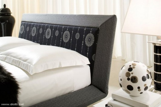 modern and comfortable bed with acca cover
