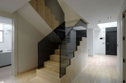 modern apartment stairs design