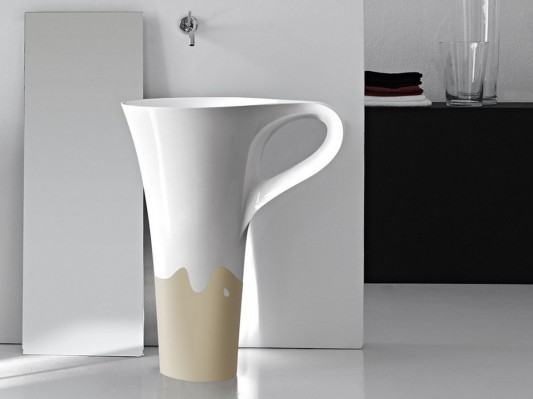 modern bathroom freestanding basin design cup by artcream
