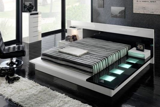 modern black and white bedroom set. Black and White Modern Bedroom Set Design Inspiration   Home