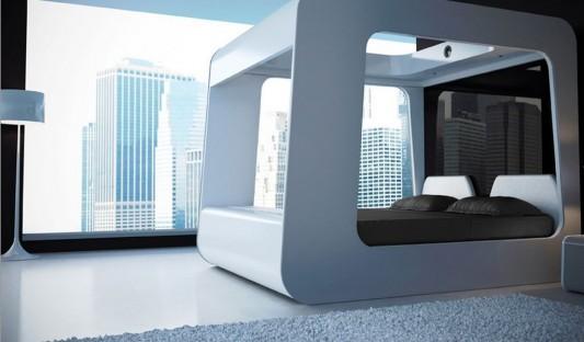 modern canopy bed design