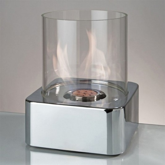 modern chrome laminate centerpiece table fireplace
