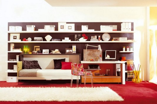 modern compact and multifunction home office furniture decorating