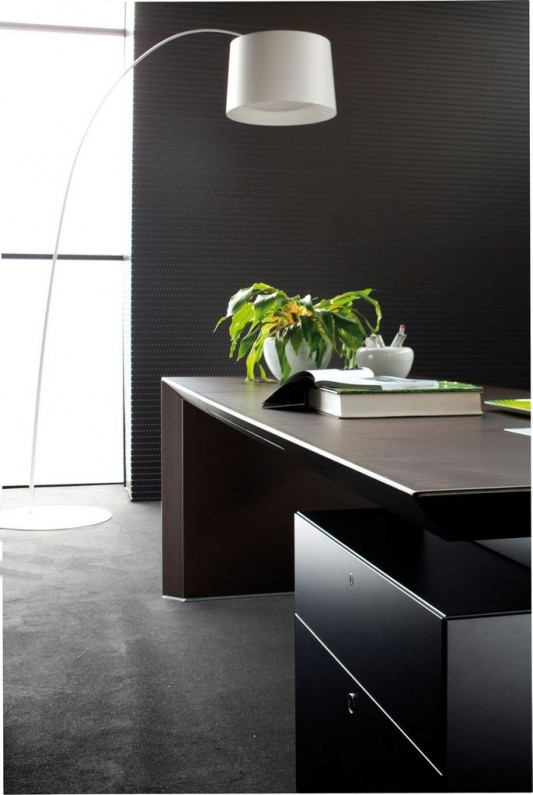 modern contemporary CEO office desk design