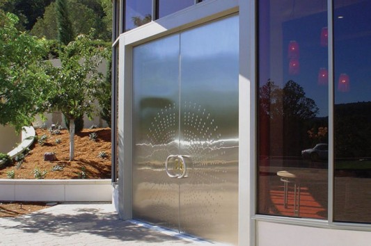 modern contemporary Stainless Steel Embossed Door