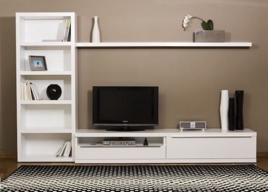 Modern Contemporary Bookcase Tv Wall Cabinet Ideas