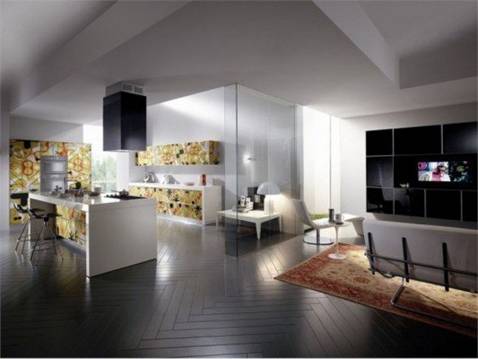 modern contemporary kitchen design with beautiful pattern