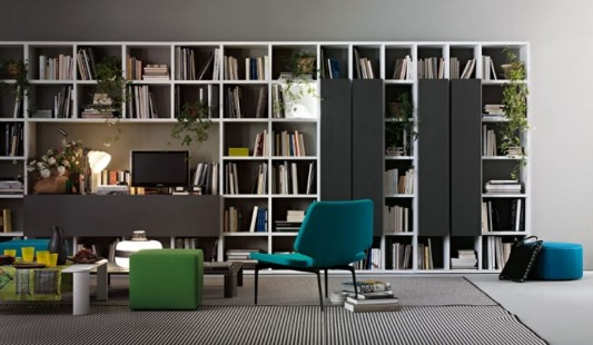 Modern Minimalist Library Room Decorating with Selecta Library