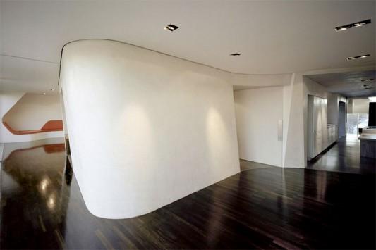modern contemporary loft interior with open concept