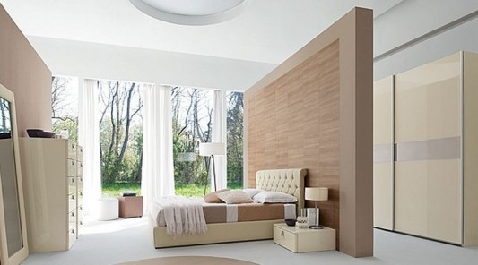 Contemporary Master Bedroom Decorating With Luxurious