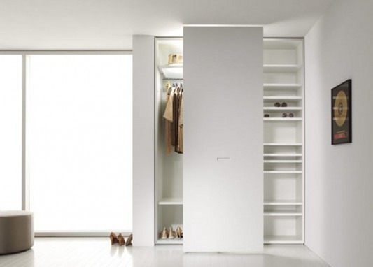 modern contemporary sliding door wardrobes system with display cabinet function