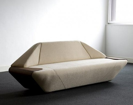 Modern Sofa Futuristic and Elegant Design with Wooden ...