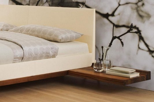 modern contemporary solid walnut bed design by team7