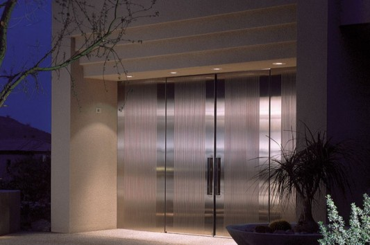 modern contemporary stainless steel door design ideas