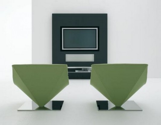 modern contemporary wall unit design for TV panel