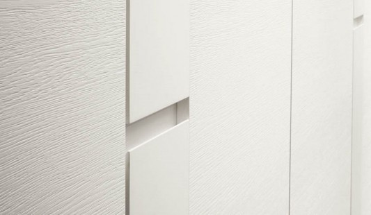 modern contemporary white wardrobes system details