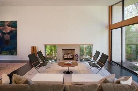 modern cottage with minimalist living room