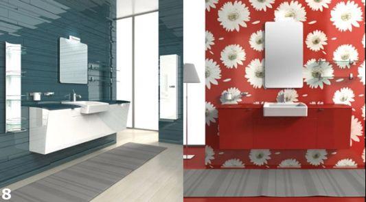 modern design semi built in bathroom furnishing