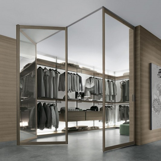modern dress bold walk-in closet system minimalist practical design ideas