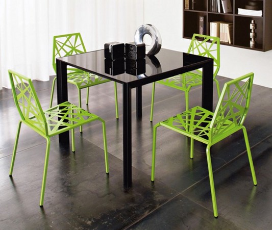 modern futuristic kitchen chair design green bright color