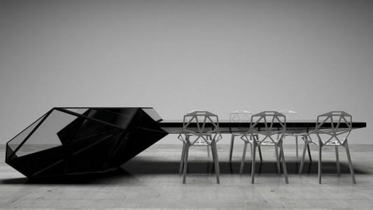 Hybrid Office Conference Table And Desk Futuristic Design