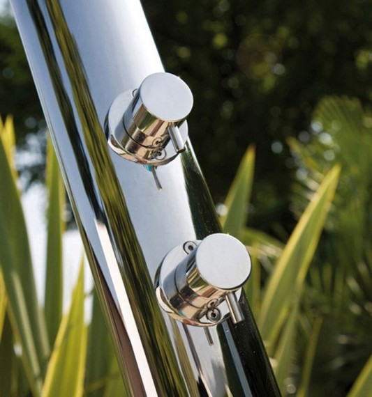 modern high tech shower with shower column fixation