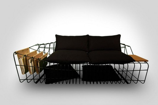 Creative Furniture Sofa Wire frame which Flexes Body Sofist by Sule