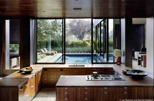 modern home vienna way residence wood kitchen set