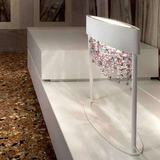 Modern Interior Decoration With Ola Crystal Floor Lamps