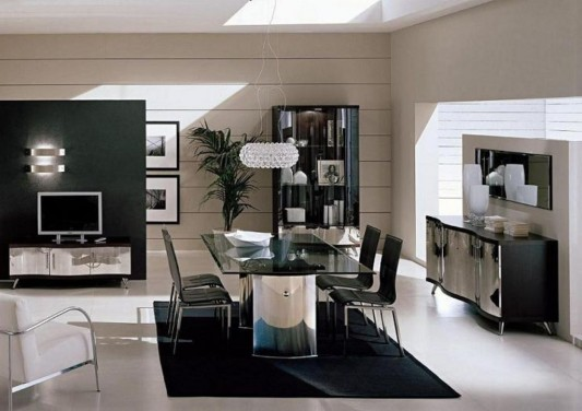 Charming Modern Italian Dining Set Furniture Ideas