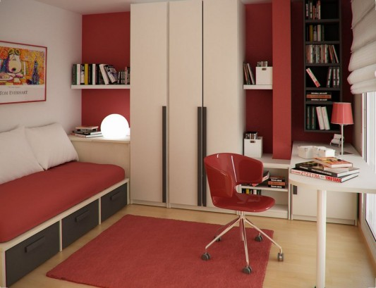 modern kids study room and bedroom ideas