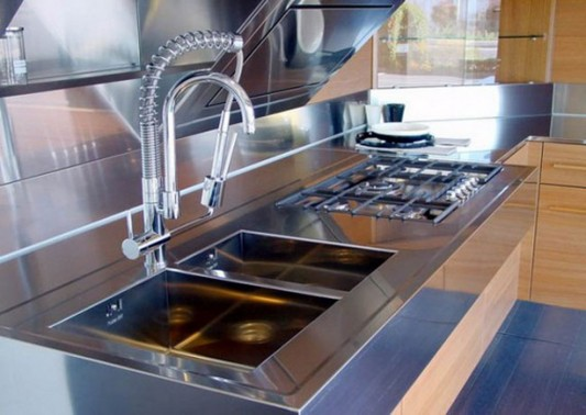 modern kitchen basin and faucet kube collection