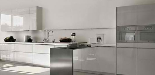 modern kitchen ideas entirely of stainless steel material