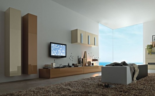 Modern Living Room Wall Unit System Decoration Ideas
