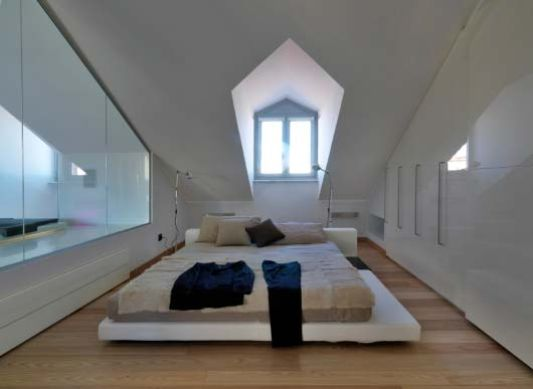 Modern Loft Apartment Renovation Master Bedroom Design