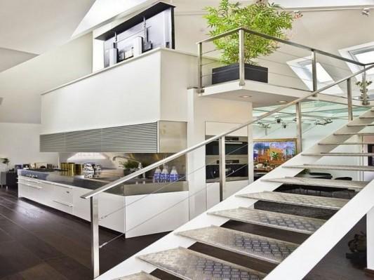 modern metal staid design ideas