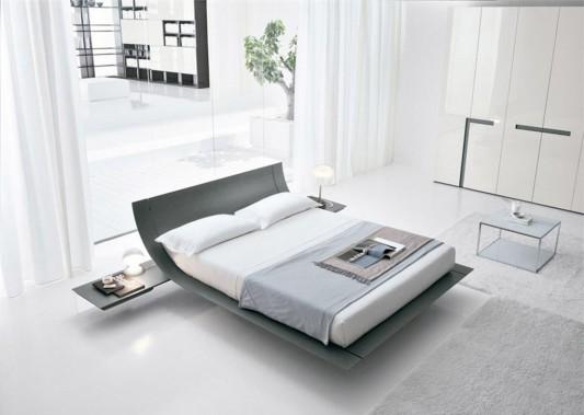 modern minimalist Italian wooden bed by presotto