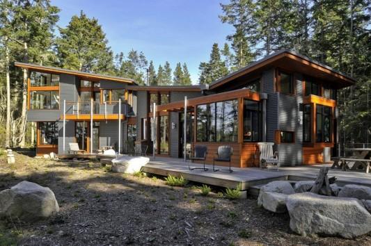 modern minimalist Lopez island residence